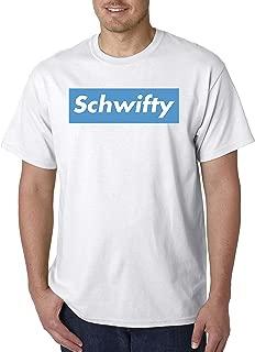 858 - Unisex T-Shirt Schwifty Supreme Rick Morty Parody Logo