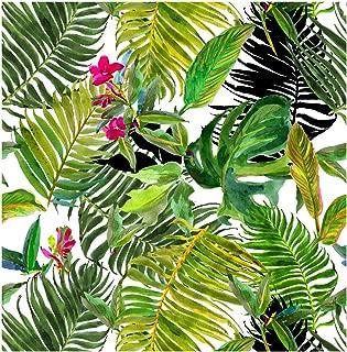 Blooming Wall Peel&Stick Tropical Palm Leaf Self-Adhesive Prepasted Wallpaper Wall Mural (010)