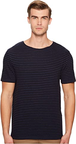 Vince - Striped Raw Edge Tee