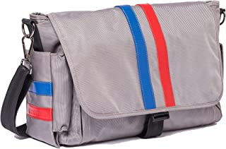 """E.C. Knox, Luxury Diaper Bags for Dads, """"The Royal"""" Ellison Carryall, Gray"""