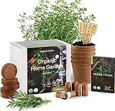Indoor Herb Garden Starter Kit - Certified 100% USDA Organic Non GMO - Potting Soil, Peat Pots, 5 Herb Seed Basil, Cilantr...