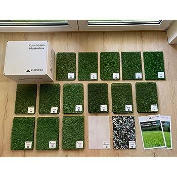 Meterware Anthrazit, 133x200 cm wetterfest /& schnelltrocknend Balkon und Freizeit Rasenteppich f/ür Terrasse casa pura/® Komfort Kunstrasen mit Noppen