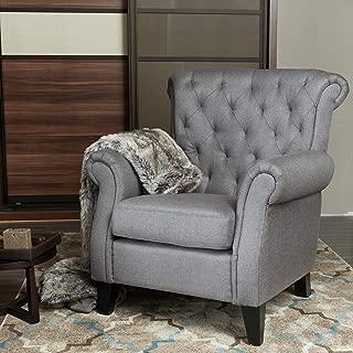 LOKATES HOME Modern Living Room Accent Arm Chair Comfy Single Sofa Club Chair, 37.4