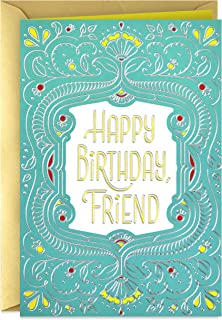 Hallmark Golden Thread Birthday Card for Friend (Celebrating You)