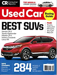 Consumer Reports Used Car Magazine *+ FREE GIFT August 2019 BEST SUVs CR (284)