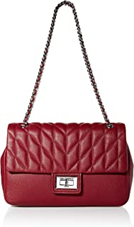 Karl Lagerfeld Paris womens Agyness Pebble Lg Shoulder Bag