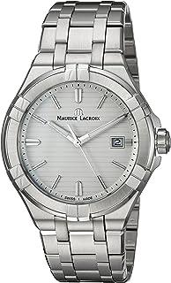 Maurice Lacroix - Reloj Analógico para Hombre de Cuarzo con Correa en Acero Inoxidable AI1008-SS002-131-1