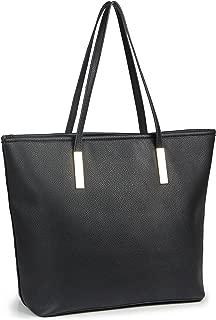 Simple Solid Color Pu Leather Top Handle Satchel Handbags for Women Shoulder Bags