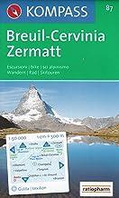 Breuil-Cervinia, Zermatt, Aosta 1:50.000 senderismo y ciclismo mapa topográfico (Italia, Suiza) # 87