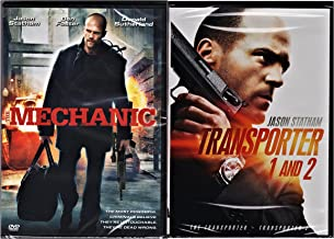 Jason Statham Collection Transporter 1 & 2 + The Mechanic [DVD] 2 Pack Crime Action triple feature Movie Set