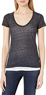 Majestic Filatures Women's T-Shirt, 372. Marine/Blanc