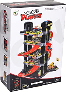 PJ Power Joy Vroom Vroom Garage Playset With Lights 49-pieces, P9188A-1