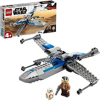 LEGO75297StarWarsX-WingdelaRésistanceJouetStarfighterpourLesEnfantsde4Anset+avecLaMinifigurinedePoe...