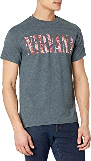 FEA Merchandising Men's Nirvana Floral Logo T-Shirt