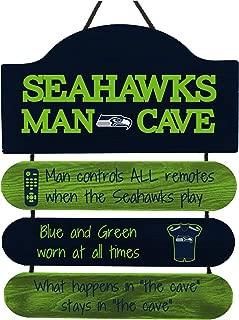 FOCO NFL Team Logo Mancave Man Cave Hanging Wall Sign