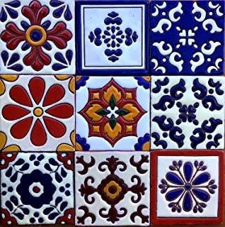 Ceramic Relief Talavera Mexican Tile 4x4