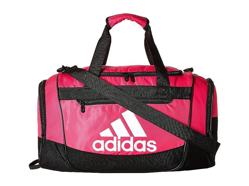 adidas Defender III Small Duffel (Shock Pink/Black/White) Duffel Bags