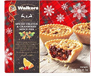 walkers spiced orange and cranberry mince pies