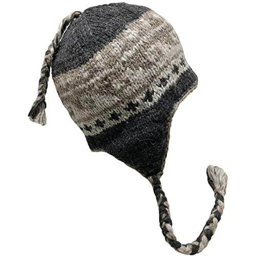 65369861b8e Nepal Hand Knit Sherpa Hat with Ear Flaps