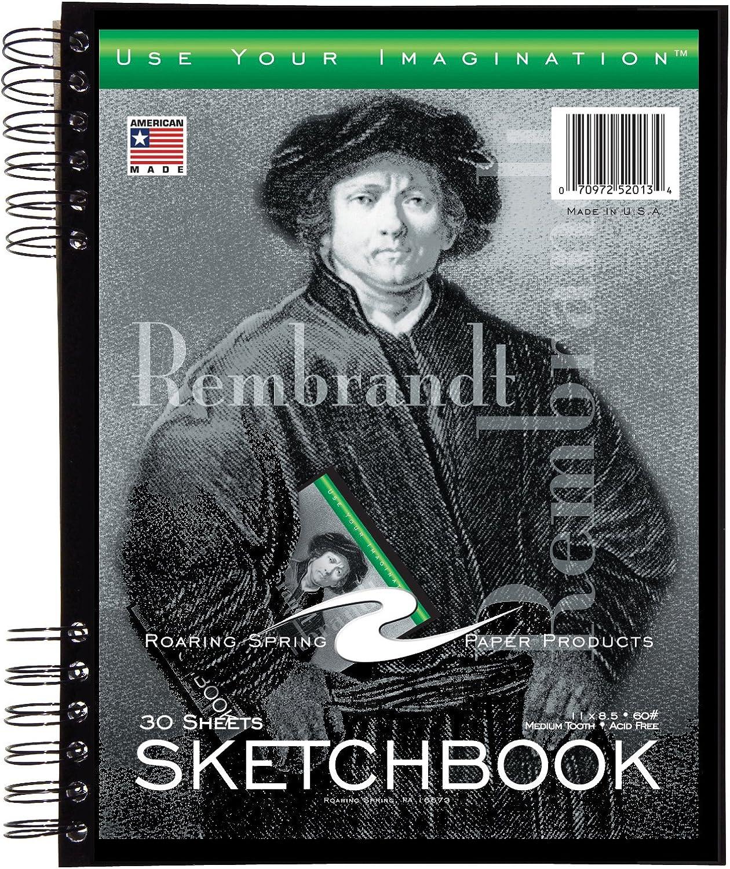 Roaring Spring Sketch Buch mit Tasche, 27,9 x 21,6 cm, 30 Blatt B005UOEC7S   Bekannt für seine hervorragende Qualität