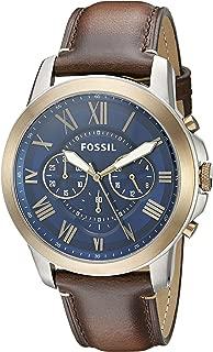 Men's FS5150 Grant Chronograph Dark Brown Leather Watch