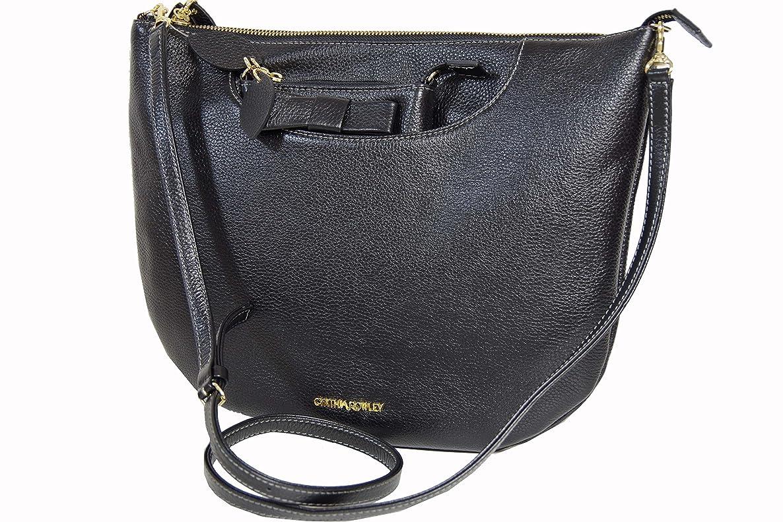 特定のガラスオフシンシアローリー CYNTHIA ROWLEY バッグ B03110 ブラック 小バッグ付 新品正規品