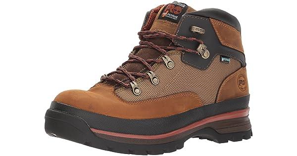 Timberland TB0A1KNM236 Men/'s Euro Hiker Waterproof Soft Toe Tan Work Boots