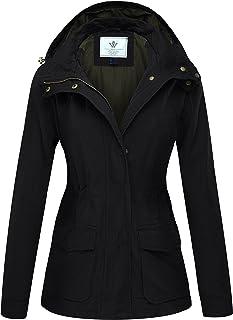 WenVen Women's Versatile Anorak Military Hooded Jacket Drawstring