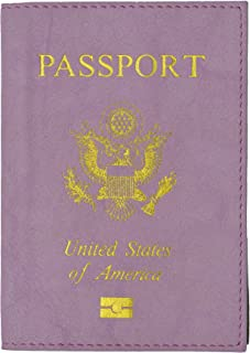 USA Gold Logo Passport Cover Holder for Travel By Marshal