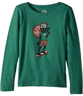 Life is Good Kids Holiday Skater Long Sleeve Crusher Tee (Little Kids/Big Kids)