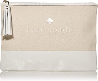 Kate Spade Ash Street Logo Large Tassel Pouch/Clutch, Natural, One Size
