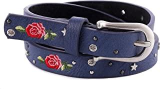 AnJuHoPa - Cinturón con remaches de estrás bordados para vaqueros Breaches, mujeres y niñas