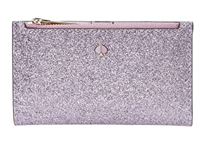 Kate Spade New York Burgess Court Small Slim Bifold Wallet (Lilac) Handbags
