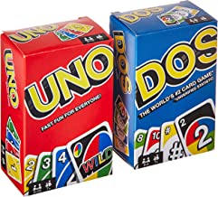 Mattel Uno Dos Card Game Combo - Both Games