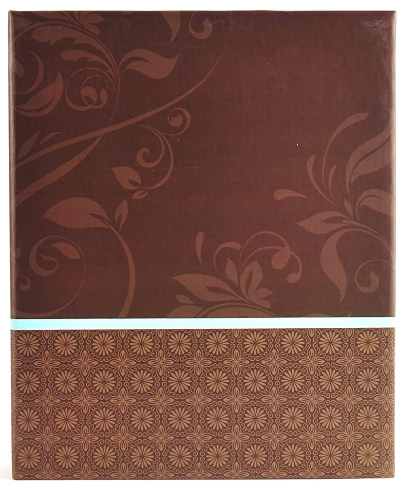 Pinnacle Frames and Accents Green and Brown Leaves 440 Pocket Ring Bound Photo Album