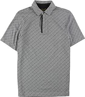 Tasso Elba Mens Textured Diamond Rugby Polo Shirt
