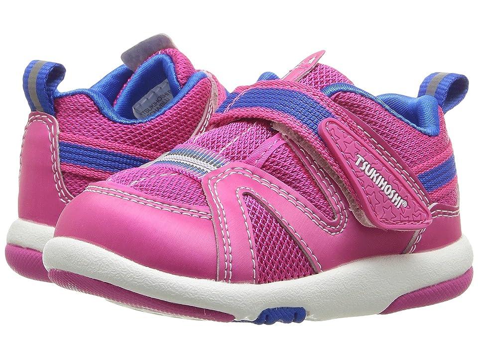 Tsukihoshi Kids Maru (Toddler) (Fuchsia/Blue) Girls Shoes