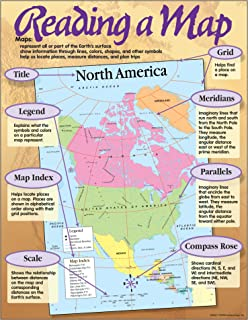 """Trend Enterprises Inc. Reading a Map Learning Chart, 17"""" x 22"""""""
