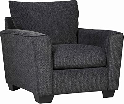 Benjara Contemporary Styled Fabric Upholstered Wooden Chair, Gray
