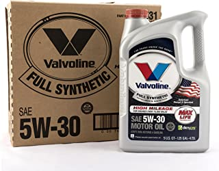 Valvoline 813531 5W-30 Full Synthetic with MaxLife Technology, 480. Fluid_Ounces, 3 Pack