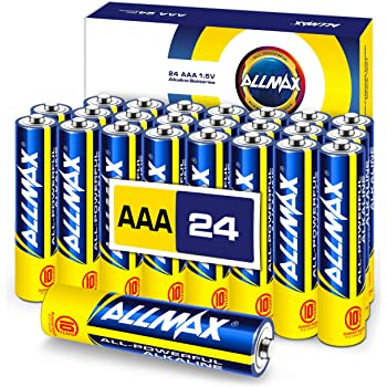 ALLMAX AAA Maximum Power Alkaline Batteries (24 Count) – Triple A Ultra Long-Lasting Battery – Store up to 10 Years, Leak-Proof, Device Compatible – Powered by EnergyCircle Technology (1.5 Volt)