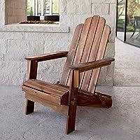 Walker Edison Folding Acacia Adirondack Chair