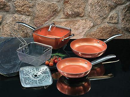 XSQUO Useful Tech Juego DE 2 SARTENES Chef. TAMAÑOS DE 22 Y 26CM + Olla