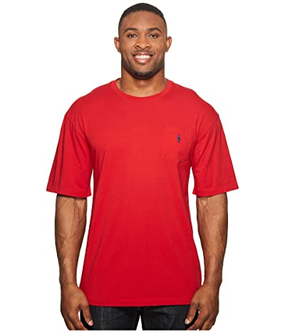 Polo Ralph Lauren Big & Tall Big and Tall Classic Fit Crew Neck Pocket T-Shirt (RL2000 Red) Men