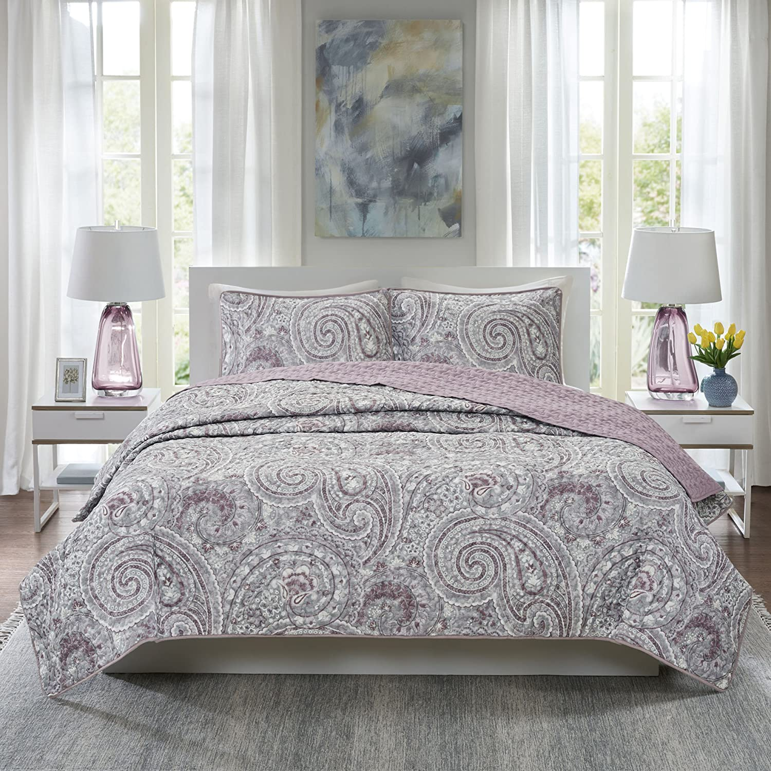 Comfort Spaces Paisley Design Double All Sided Quilting 2021 new Popular overseas Season