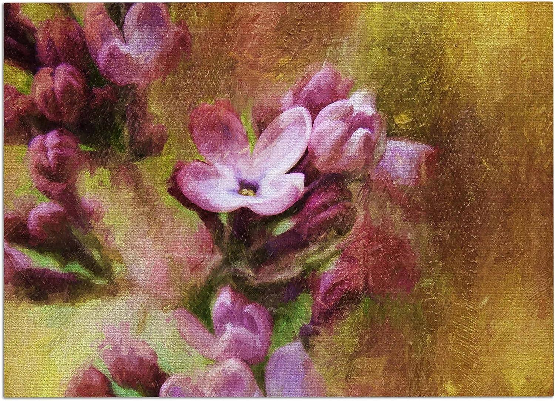 KESS InHouse CV2001ADM02 Ginkelmier purplecs in Yellow Pink Floral Dog Place Mat, 24  x 15