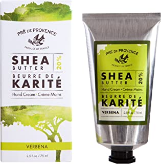 Pre de Provence 20% Natural Shea Butter Hand Cream, For Repairing, Soothing, Moisturizing Dry Skin - Verbena (2.5 oz)