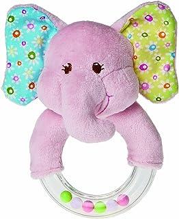 Mary Meyer Ring Baby Rattle, Ella Bella Elephant, 5-Inch