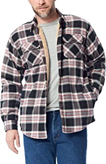 Authentics Men's Long Sleeve Sherpa Lined Shirt Jacket