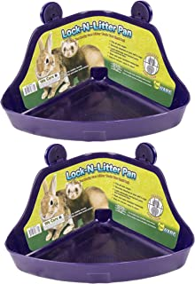 (2 Pack) Ware Manufacturing Plastic Lock-N-Litter Pan for Small Pets - Size Regular